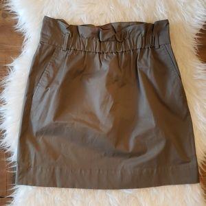 Banana Republic Olive Ruffle Stretch Skirt Size 4